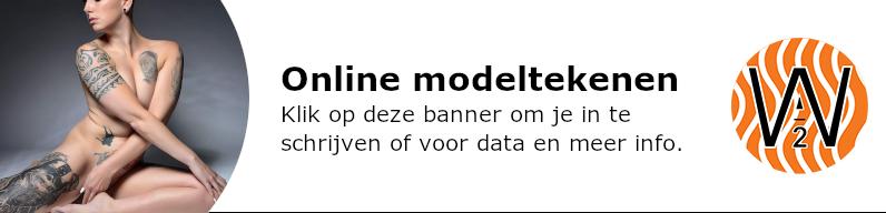 banner modeltekenen online tweede lockdown